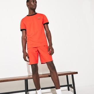 Lacoste Men's SPORT Contrast Bands Lightweight Tennis Shorts