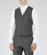 Reiss Reiss Morrow W - Mottled Wool Waistcoat In Grey