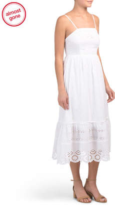 Juniors Eyelet Prairie Dress