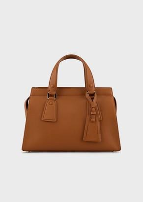 Giorgio Armani Le Sac11 Leather Handbag
