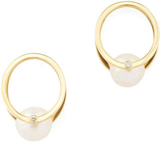 Oasis Katkim KATKIM Pearl Yellow-Gold Earrings