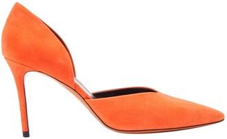 Celine Orange Leather Heels