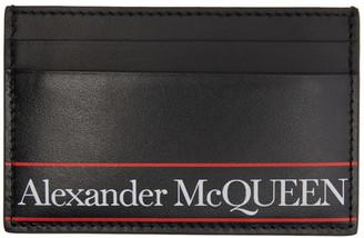 Alexander McQueen Black Logo Card Holder