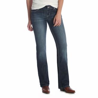 Wrangler Women's Premium Patch Mae Boot Cut Jean-Sits Above Hip