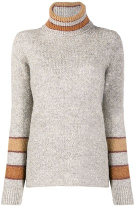 Eleventy Panelled Turtleneck Sweater