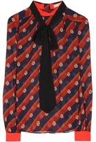 Mary Katrantzou Veddar Striped Silk Blouse