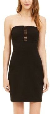B. Darlin Juniors' Lattice-Front Bodycon Dress