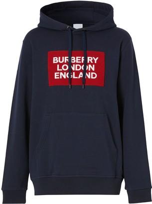 Burberry logo patch hoodie