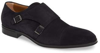 BOSS Eton Suede Monk Strap Dress Shoe