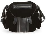 Alexander Wang Mini Marti Velvet & Lambskin Leather Backpack - Black