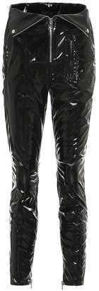 RtA Diavolina high-rise vinyl pants