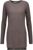 Autumn Cashmere Slit-Sides Cashmere Sweater