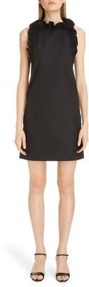Givenchy Flutter Detail Sleeveless Poplin Dress