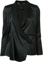 Black Asymmetrical Jacket - ShopStyle