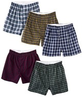 Fruit of the Loom Boys' 5-pack Tartan Plaid Boxers - Assorted Colors