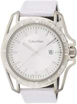 Calvin Klein Men's Earth White Fabric Strap Watch K5Y31VK6