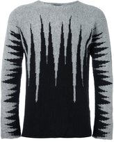 Tom Rebl abstract pattern pullover