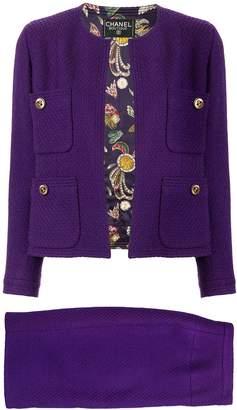 Chanel Pre-Owned Tweed setup jacket skirt