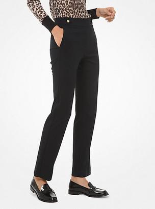 Michael Kors Stretch-Viscose Cropped Pants