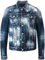 DSQUARED2 bleached denim jacket