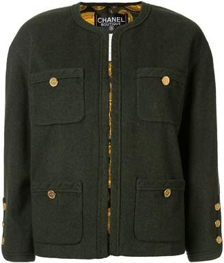 Chanel Pre-Owned CC Long Sleeve Buttonless Jacket