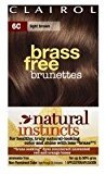 Clairol Natural Instincts, 6C, Brass Free Light Brown by