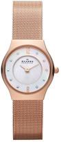 Skagen Women&s Rose Gold Mesh Bracelet Watch