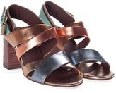 See by Chloe Sunset Strappy Multicolor Metallic- Leather Sandal