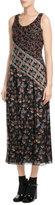 Anna Sui Printed Silk Maxi Dress