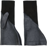 Rick Owens textured gloves - women - Silk/Lamb Skin/Suede - 7