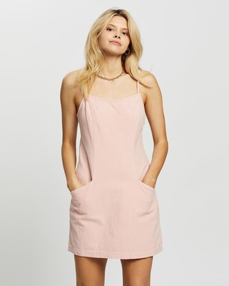Rusty Women's Pink Mini Dresses - Lovewild Slip Dress - Size One Size, 6 at The Iconic