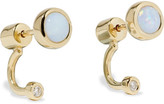 Pamela Love Gravitation Gold, Opal And Diamond Earrings - One size