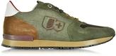 D'Acquasparta D'Acquasparta Botticelli Forest Green Suede and Fabric Men's Sneaker