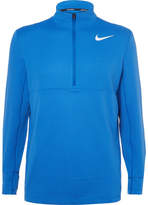 Nike Aeroreact Slim-fit Stretch-knit Half-zip Golf Top - Blue