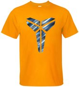BMWW Men's Kobe Bryant Los Angeles Lakers The Black Mamba Logo MVP Player T Shirt orange XL