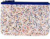 Pierre Hardy paint splatter print clutch