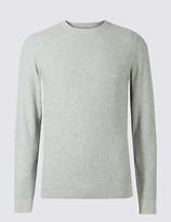 M&S Collection Pure Cotton Textured V-Neck
