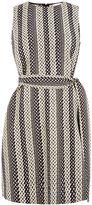 Warehouse Link Jacquard Dress