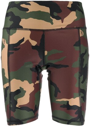 R 13 Camouflage-Print Cycling Shorts