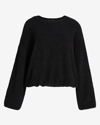 Express Cozy Banded Bottom Crew Neck Sweater