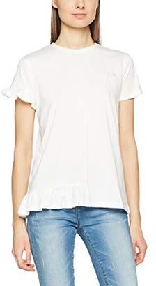 2nd Day Women's 2ND Beryl Regular Fit Plain Round Collar Short Sleeve T - Shirt,4 (Manufacturer Size: L)