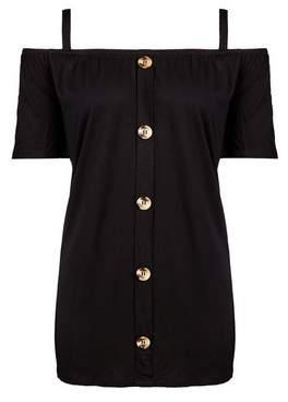 Dorothy Perkins Womens **Tall Black Cold Shoulder Top, Black