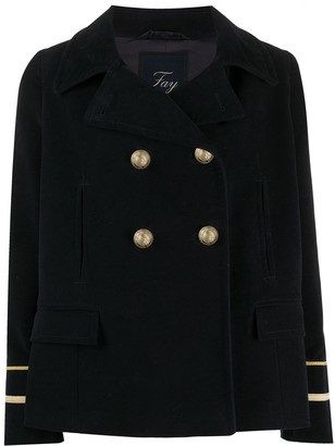 Fay Striped Cuff Military Jacket