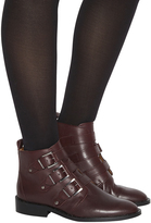 Office Lock Down Studded Buckle Boots