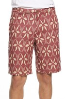 Tailor Vintage Ikat Print Linen Shorts