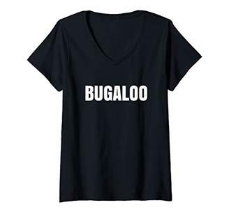 Justice Womens Bugaloo Word Trigge SJW Social Warrior Meme Media V-Neck T-Shirt