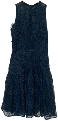 Elie Saab Turquoise Lace Dress for Women
