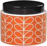 Orla Kiely Linear Stem Storage Jar - Persimmon - Small