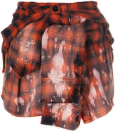 Faith Connexion plaid shirt effect mini skirt