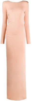 Elisabetta Franchi Open Back Fitted Gown